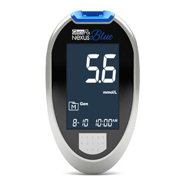 GlucoRx Nexus Blue Blood Glucose Meter