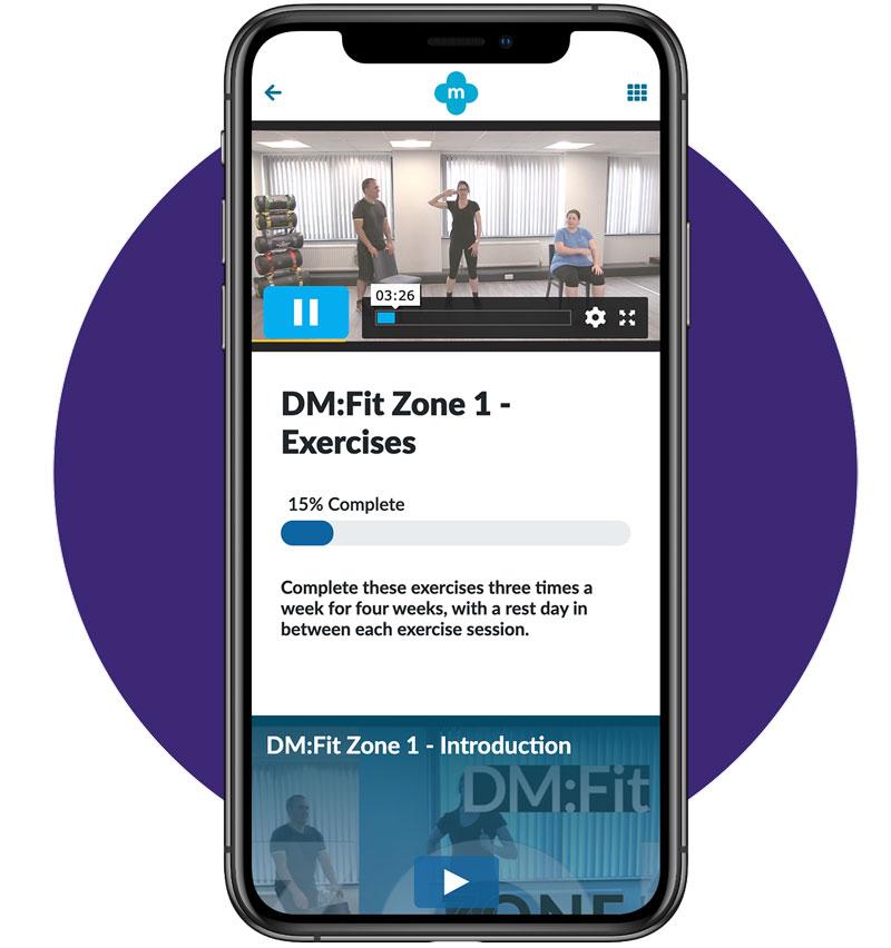 Exercise Zone 1 Screen