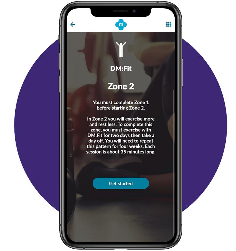 Exercise Zone 2 Screen