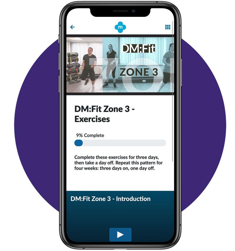 Exercise Zone 3 Screen