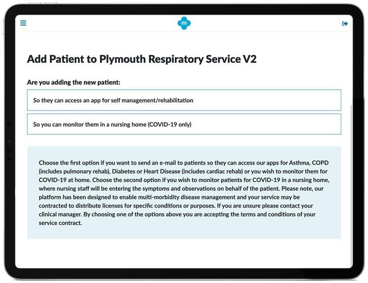 COVID-19 Virtual Ward app