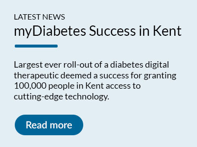 UK healthtech pioneer my mhealth announces successful roll-out of NHS-approved diabetes app to the community of Kent. Read more.