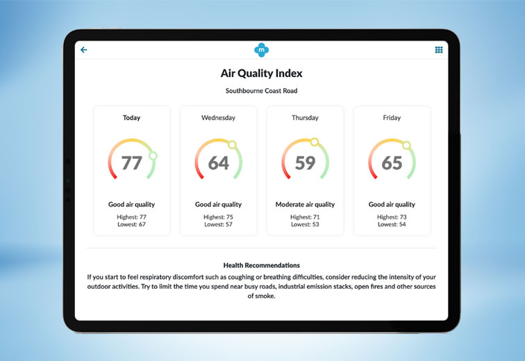 hyper local air quality forecasts